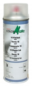 colormatic 1k klarlack spray 400 ml hochgl nzend oder matt. Black Bedroom Furniture Sets. Home Design Ideas